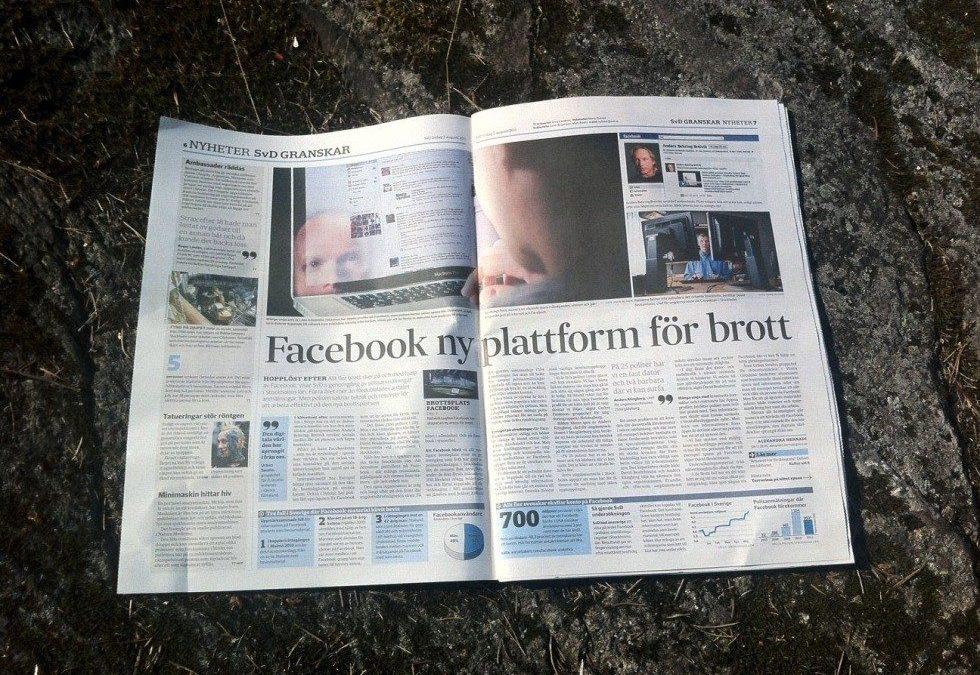 Nästan all brottslighet går numera att härleda till Facebook – säger polisen enligt SvD #jjk