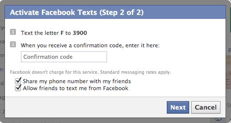 Facebook + 3 = SMS till och från facebook