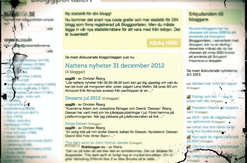 Jag sörjer och saknar den svenska bloggosfären