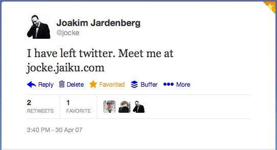 Twitter _ jocke_ I have left twitter. Meet me ...