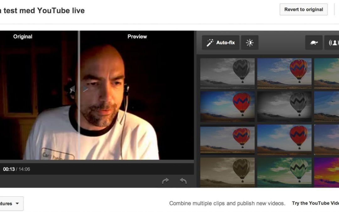 Test: Youtube live vs Bambuser