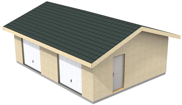 Plan Garage Ossature Bois Pour Un Garage Deux Places Jardi Brico