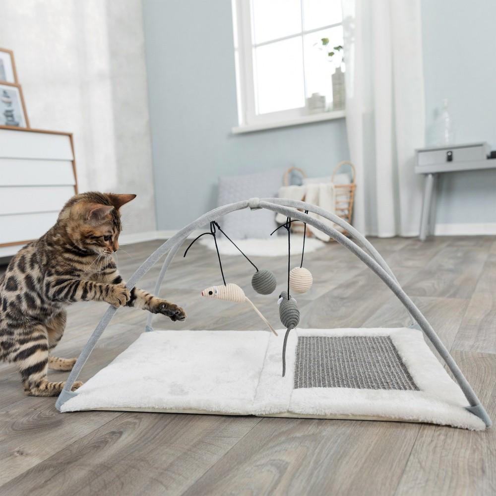 tapis de jeux griffoir pour chat 60 33 42 cm