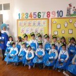 Sala dos 5 anos e a nossa presidente Carla Marques