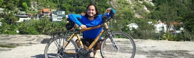 Ciclista vai rodar o mundo com uma bicicleta de bambu!