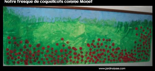 Les coquelicots comme Claude Monet en ps