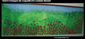 fresque coquelicots comme Monet