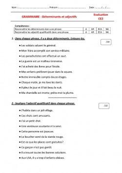 Evaluations grammaire ce2 le jardin d 39 alysse - Fiche de lecture effroyables jardins ...
