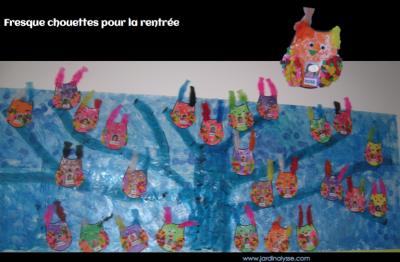 fresque chouettes