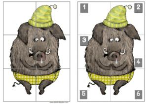 grosses soldes design distinctif bas prix Le jeu puzzle du cochon Vs La moufle -vers les maths MS - Le ...