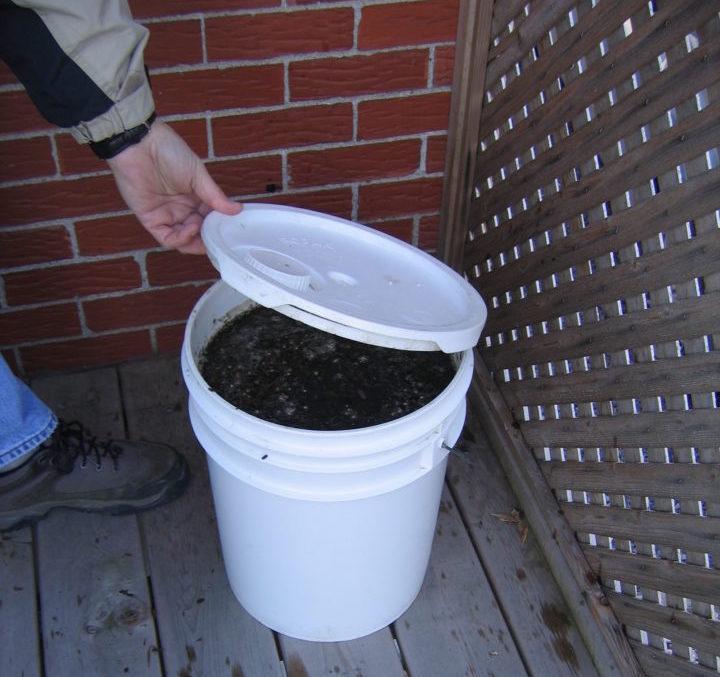 Preparation du thé de compost.