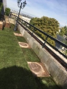 Toit-terrasse avant installation