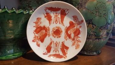Coupelle en porcelaine de Chine, décor peint à la main (Années 1950), CHINE - Prix de vente : 93€.