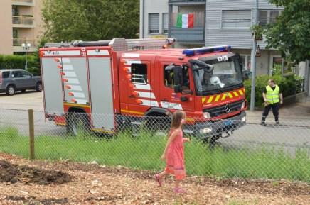 Les pompiers arrivent