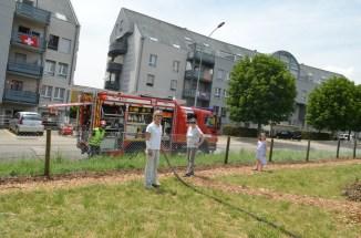 impressionnant, le travail des pompiers