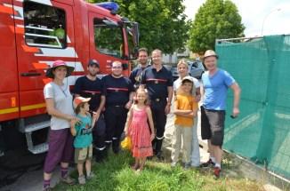 Un grand merci aux pompiers!