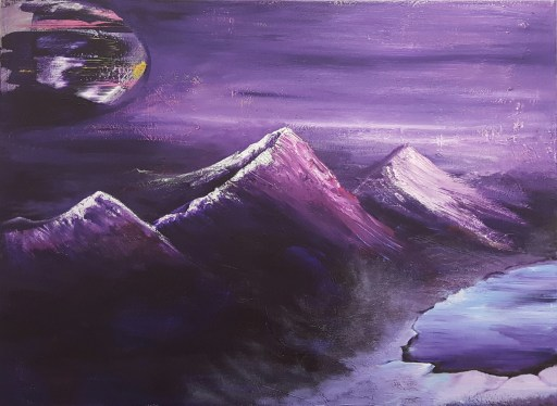 """Mist off of the lake"" 30"" x 40"" $650 Acrylic on canvas"