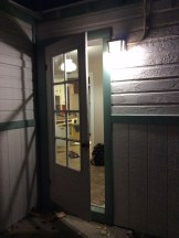 The refurbished storm door in action (10/17)