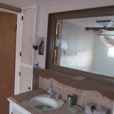 Pulled off the bottom mirror trim and put in beadboard
