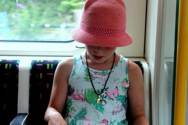 Ania in the London Underground