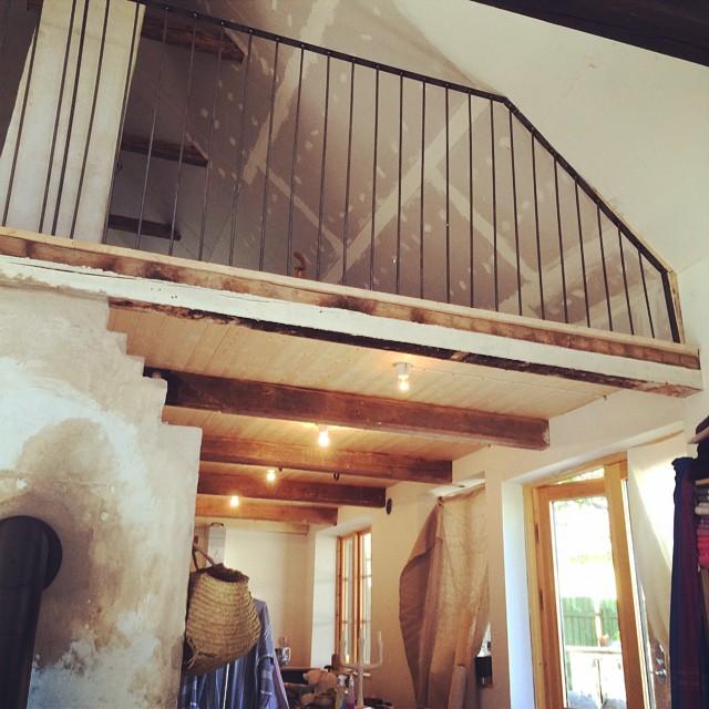 Lofträcke, monterat trots alla vinklar och vrår som kan dölja sig i ett gammalt hus.