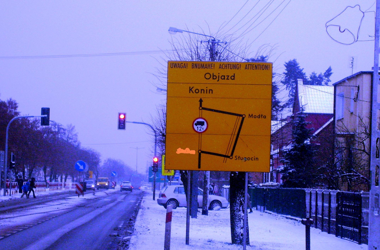 Oznakowanie dróg w mieście - istona podpowiedź