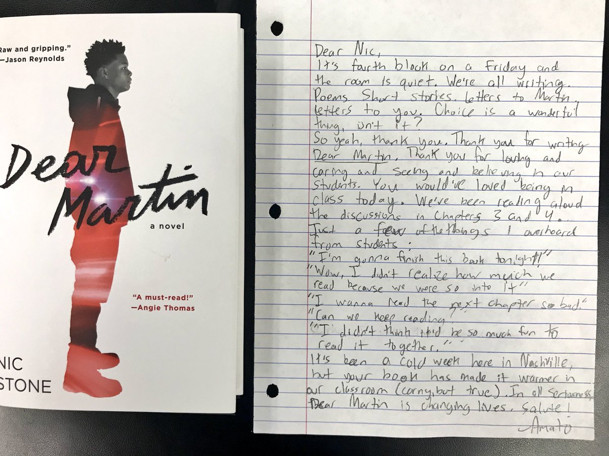 The Sunday 7 Oneword Dear Martin Booksnaps Quick Writes Mentor Sentences Amp More