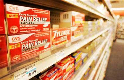 Tylenol on shelf