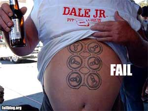 Six pack abs fail humor - beer six pack