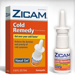 Zicam supplement - zinc anosmia common cold