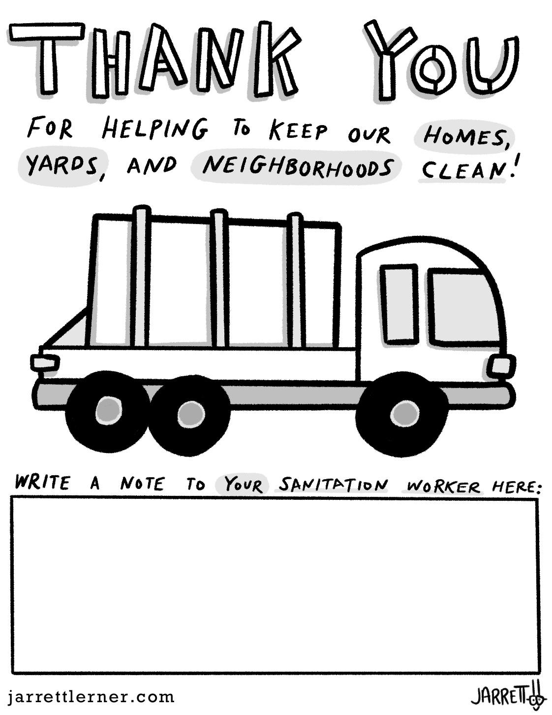 Thank Your Sanitation Worker Jarrett Lerner