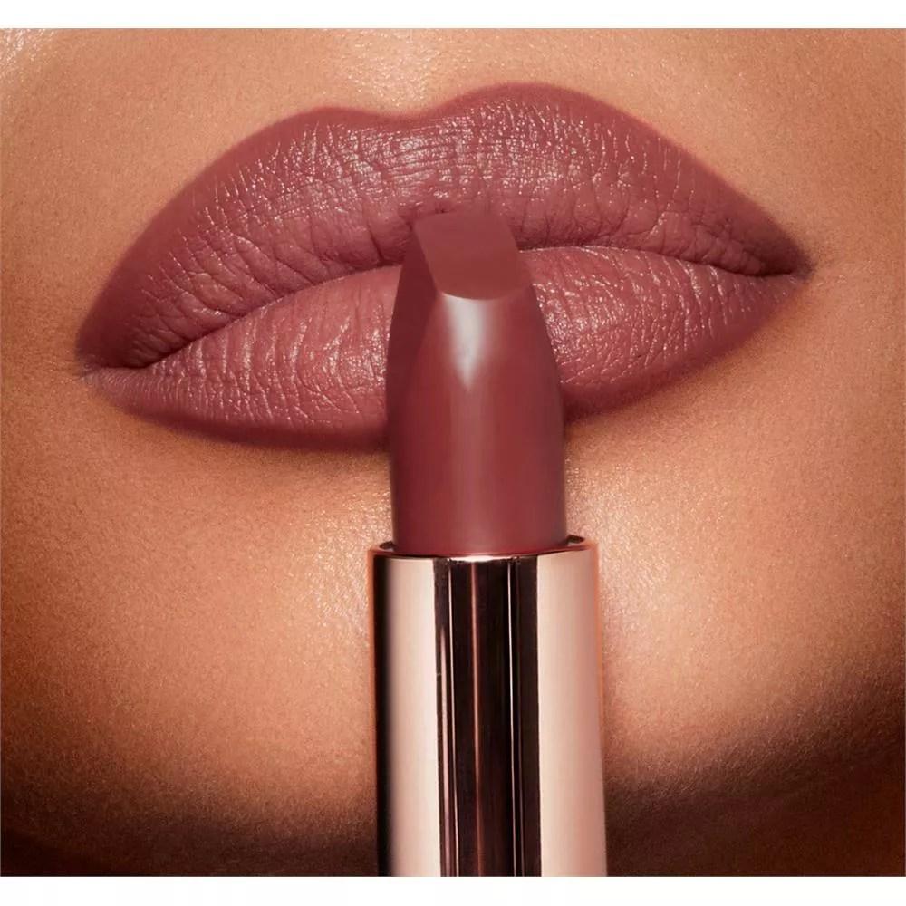 charlotte tilbury new matte revolution lipstick in pillow talk medium