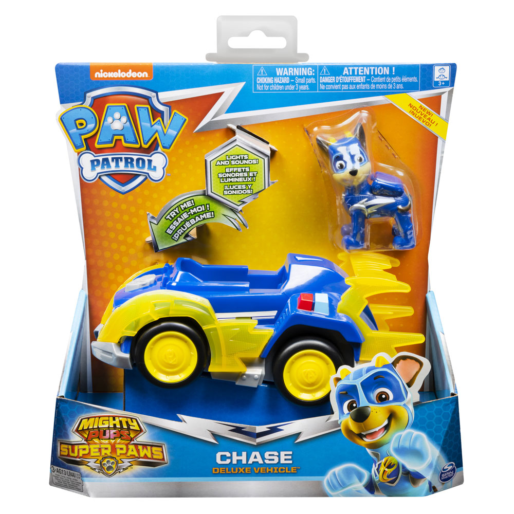 Paw Patrol Mighty Pups Super Paws Deluxe Vehicle Assortment Jarrold Norwich