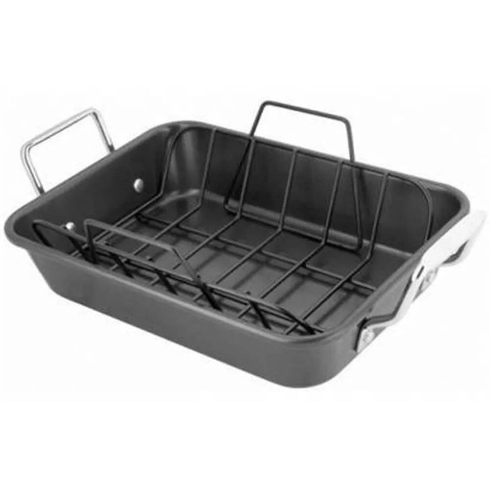 stellar non stick roast pan rack