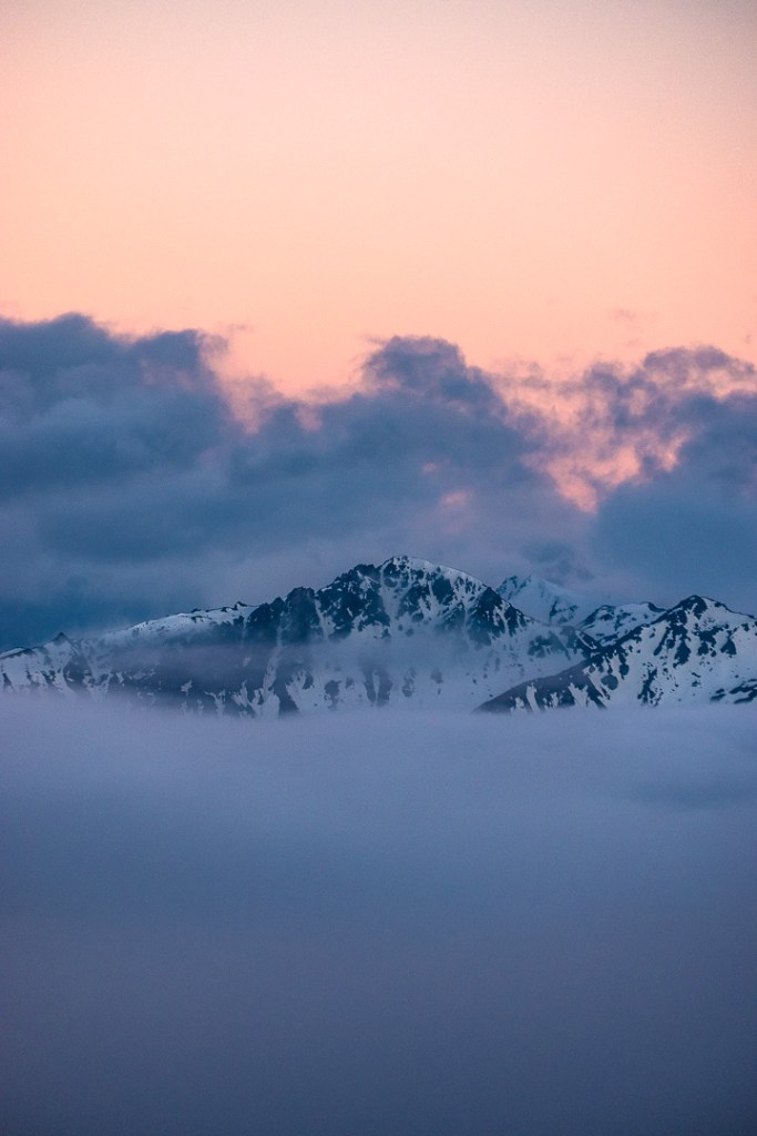 Fine Art Photography - Iced capped peaks at sunrise