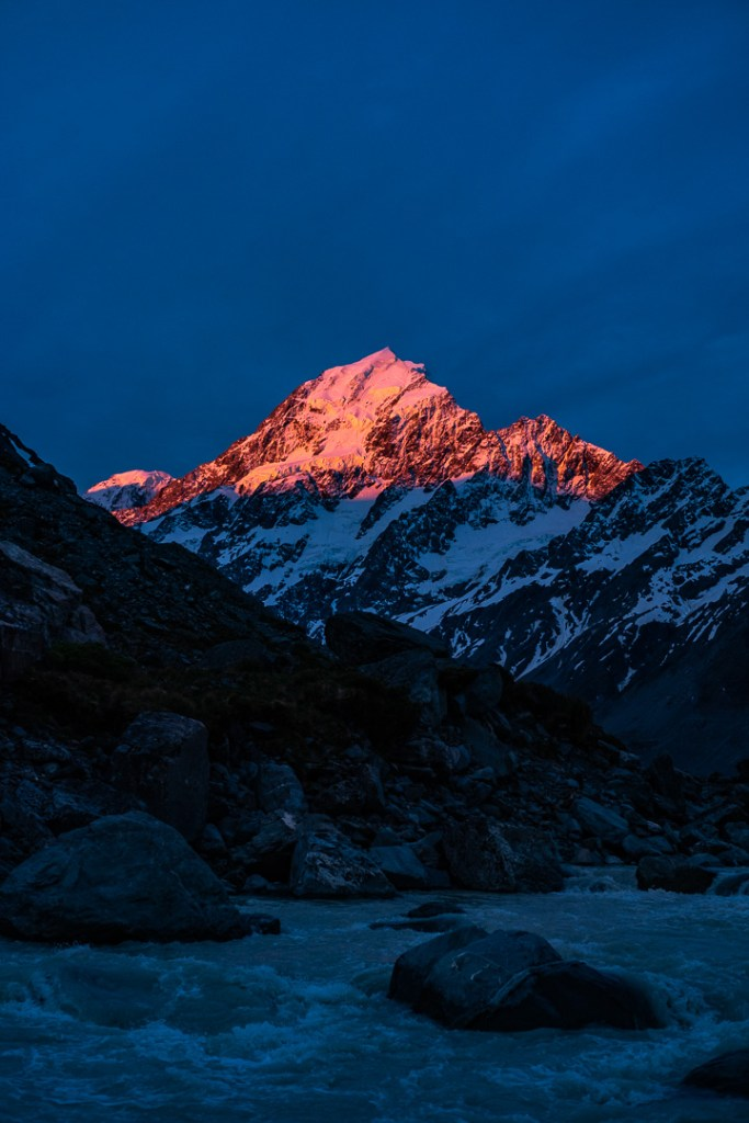 Fine Art Photography - Hooker lake and Mt Cook at sunset