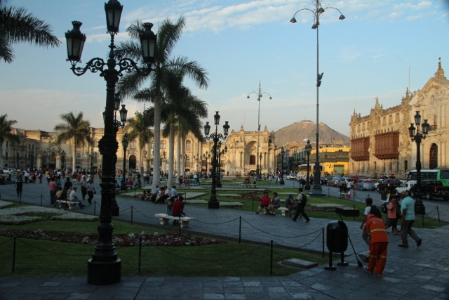 Spanish influence in Lima Peru park