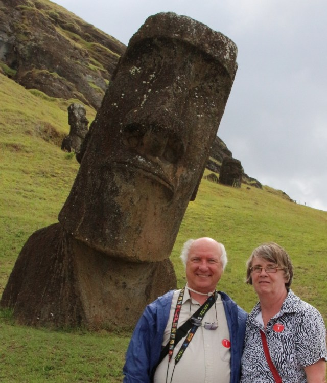 Moai near quary