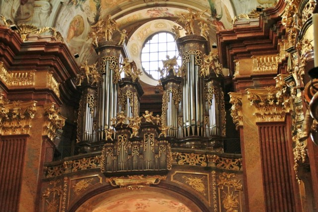 Melk Abbey Church organ pipes