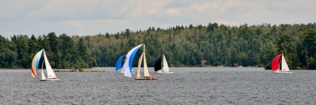 Sailing on Lake of the Woods