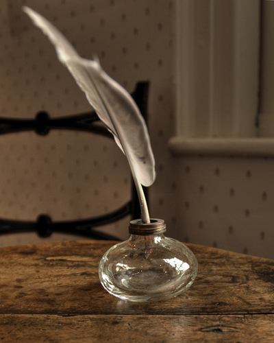 Jane Austen's desk with quill