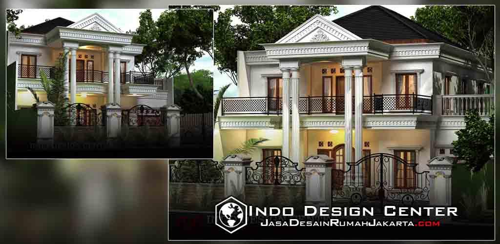 desain rumah klasik mediterania 2 lantai jasa desain
