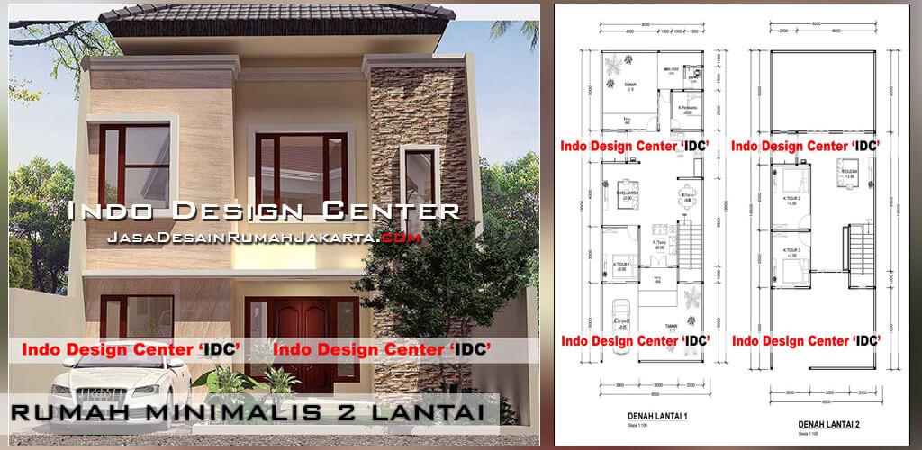 Jasa desain arsitek rumah minimalis 2 lantai di jakarta for Arsitek di jakarta