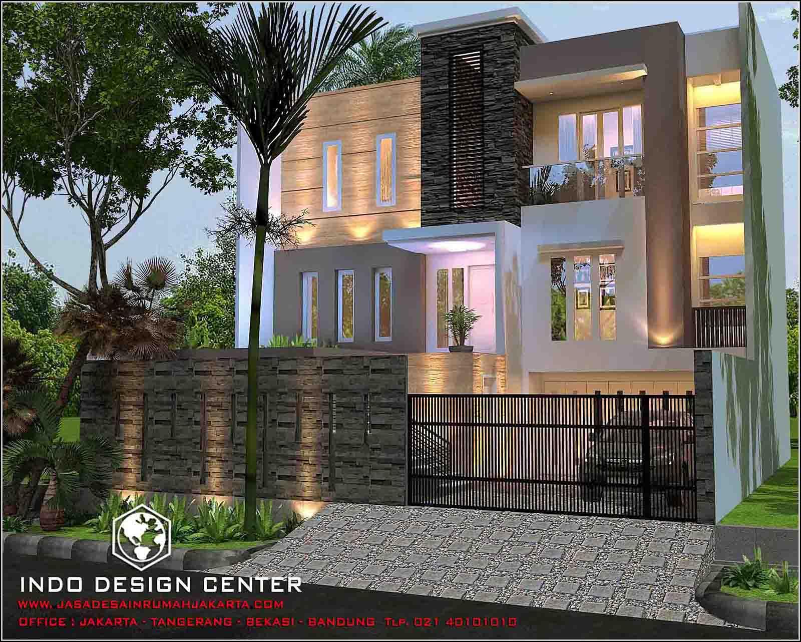 Rumah 3 Lantai tampak 2 lantai Arsip Jasa Desain Rumah