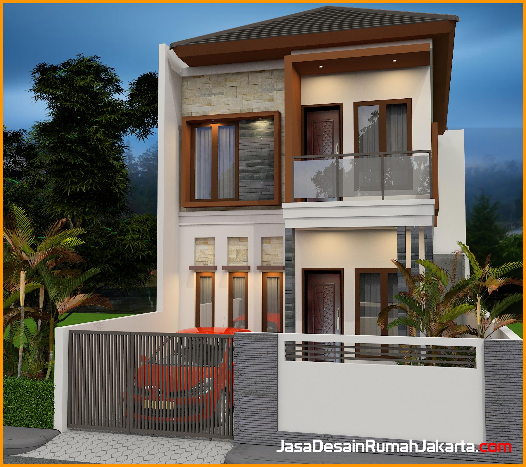 Desain Rumah Minimalis Di Dalam Gang