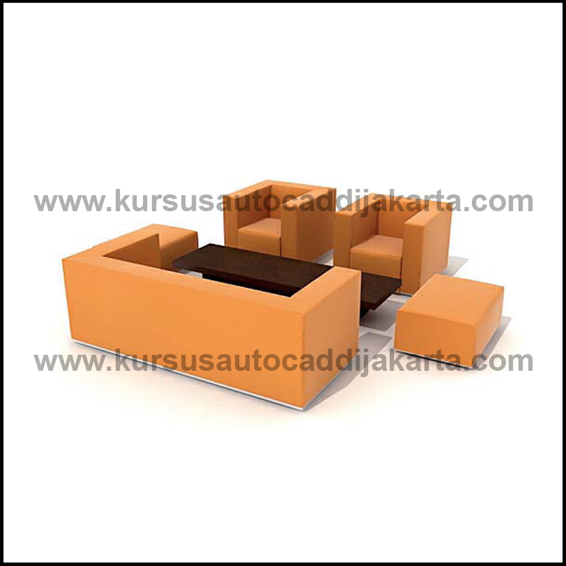 Archmodels Kursi Sofa dan Meja 003