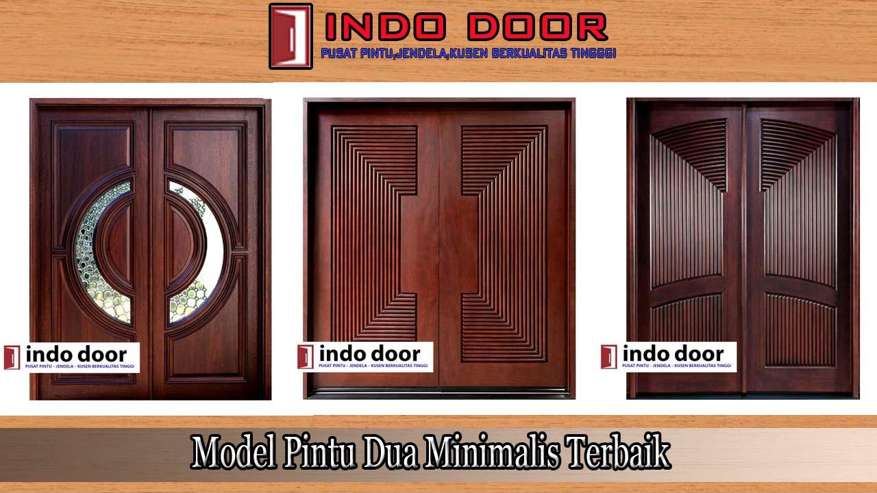 Model Pintu Dua Minimalis Terbaik | Jual Pintu Kayu Minimalis