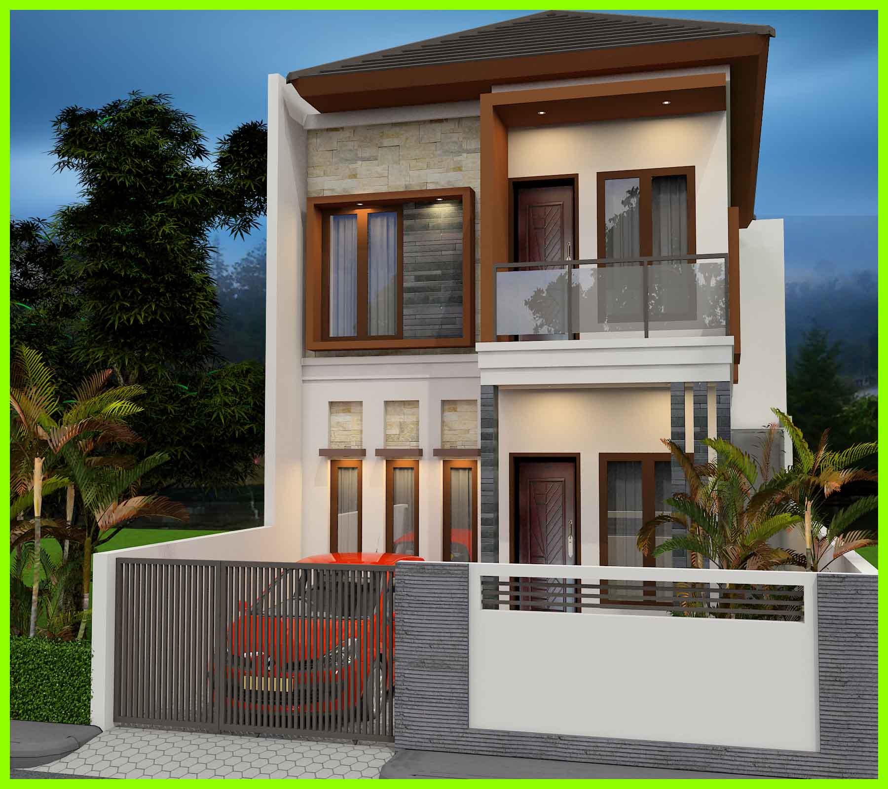 10 Contoh Desain Rumah Minimalis 2 Lantai Yang Nampak Mewah dan Modern 2