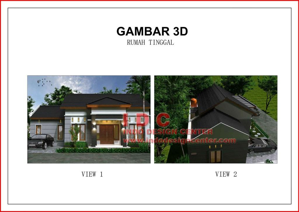 Contoh Gambar Kerja Lengkap Rumah Minimalis 1 Lantai Indo Design Center