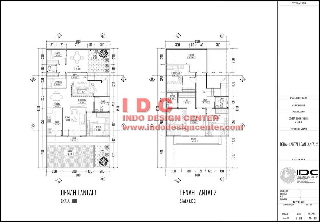 Image Result For Download Denah Rumah Autocad